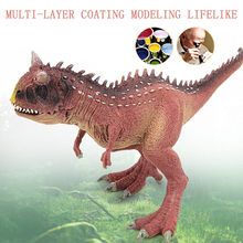 Dinosaur Model Toys Multicolor Educational Toys for Children Carnotaurus Model Cartoon Toy Best For Kids Children F415(China)