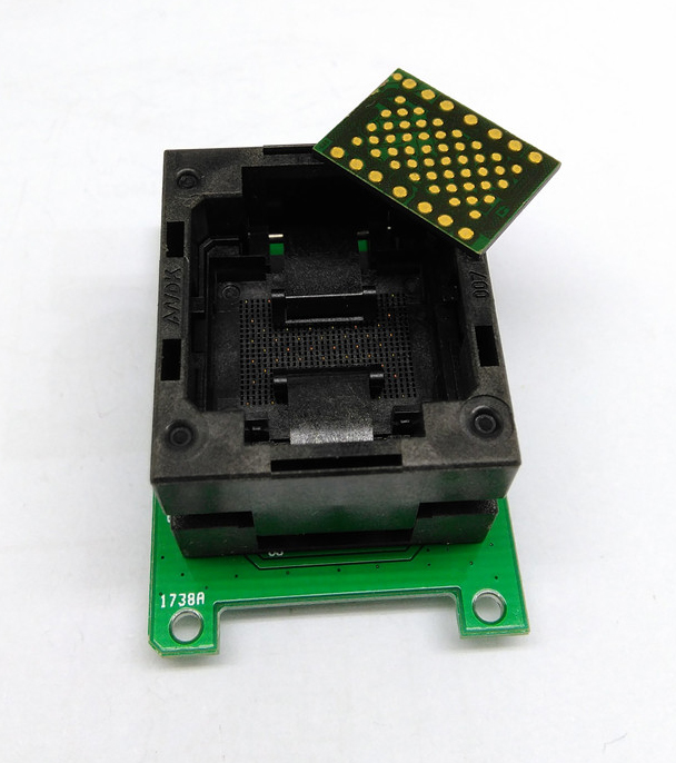 1pcs LGA60 under pressure shrapnel to DIP48 test seat aging seat mobile hard drive test fixture1pcs LGA60 under pressure shrapnel to DIP48 test seat aging seat mobile hard drive test fixture