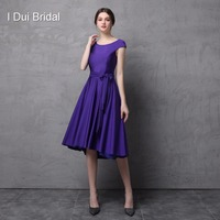 Short Cap Sleeve Knee Length Spandex Fabric Mother of the Bride Dress with Belt Simple Fit Wedding Mother Dress