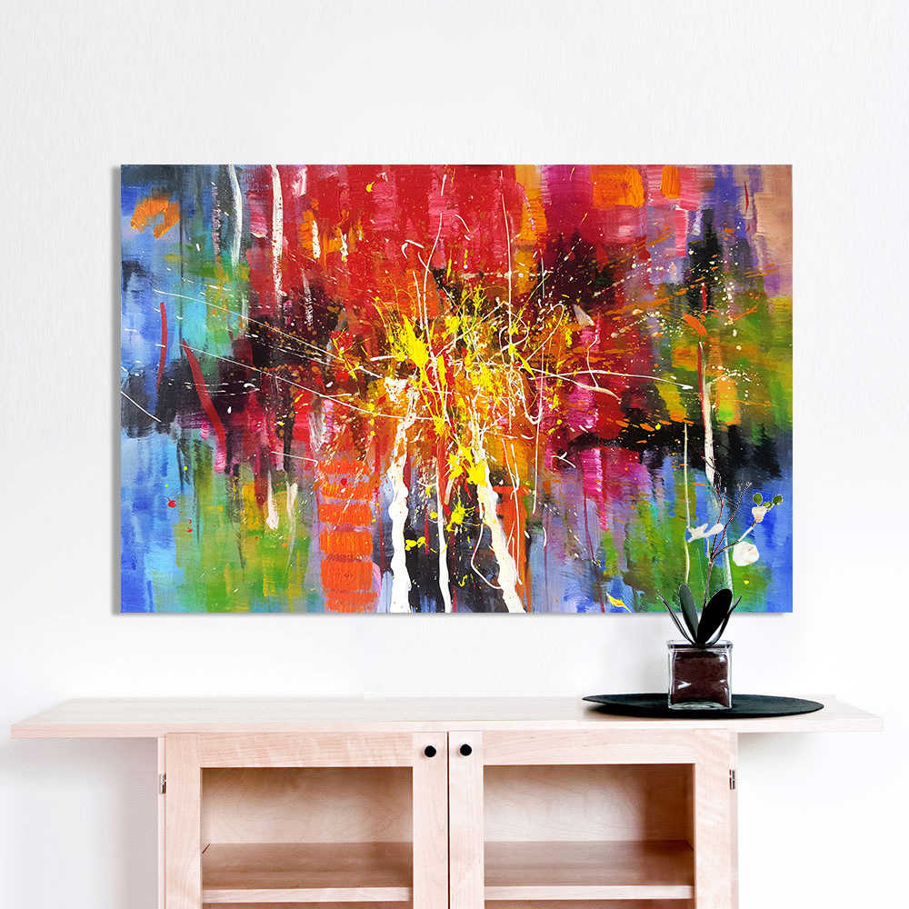 HDARTISAN Wall Art Decor Oil Painting on Canvas Abstract Paintings for Living Room Home Decor No Frame
