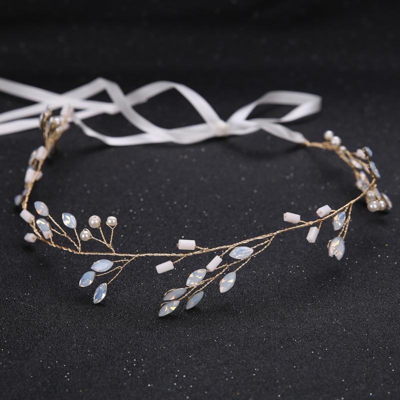 Brand New Vintage Gold Clear Crystals Pearls Flowers Wedding Hair Vine Bridal Headband Hair Accessories Bridesmaids Headdress