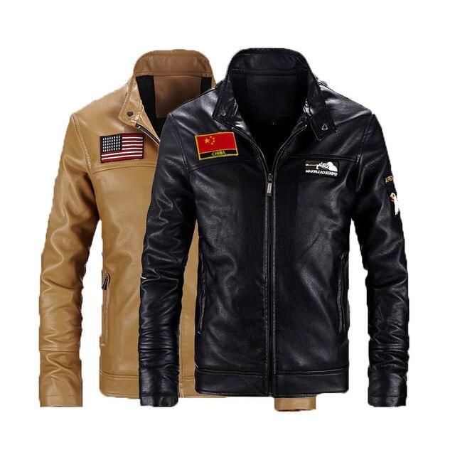 2016 мужская Кожаная Зимние Кожаные Панк Куртка Мужчины Тонкий Моды ПУ Кожаная Куртка Кардиган мужская Кожаная Куртка Мотоцикла пальто