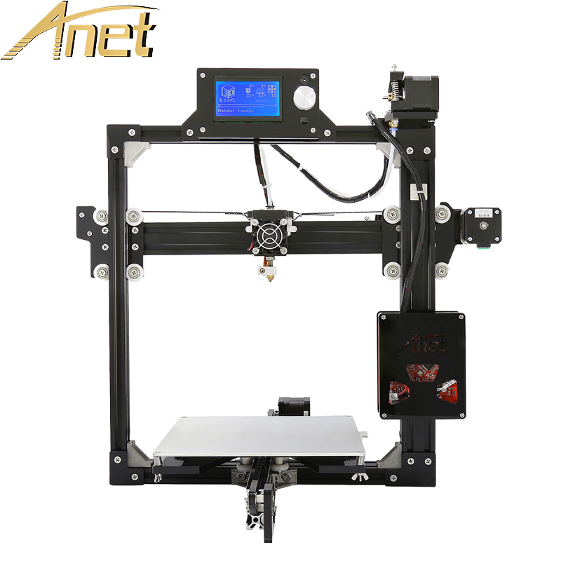 12864LCD Display High Accuracy Full metal frame Anet A2 3D Printer Kit DIY Easy Assemble imprimante