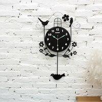 Цифровые настенные часы на батарейках настенные часы современный дизайн электронный стол часы с маятником Cuckoo часы домашний флуоресцентны