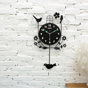 Digital Wall Clocks Battery Operated Wall Clock Modern Design Electronic Desk Clock Pendulum Cuckoo Watch Home Fluorescent 4B071