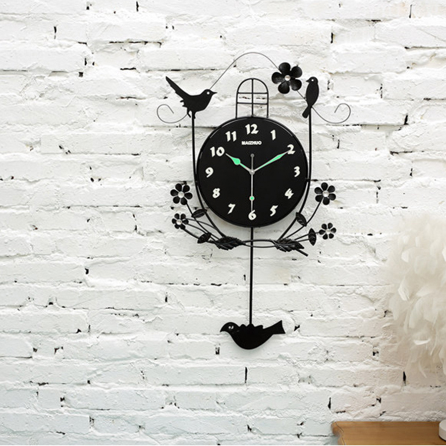 Horloges murales numériques horloge murale à piles Design moderne horloge de bureau électronique pendule coucou montre maison fluorescente 4B071