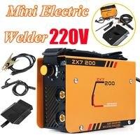 New 220V 10 200A Mini Electric Welding Machine ZX7 200MINI Arc Welder 2.5 3.2mm for Tig Welding Soldering Working Adjustable