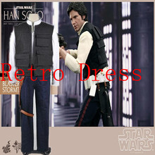 Star Wars COSPLAY Costume Han Solo starwars Halloween Cosplay Costume for men