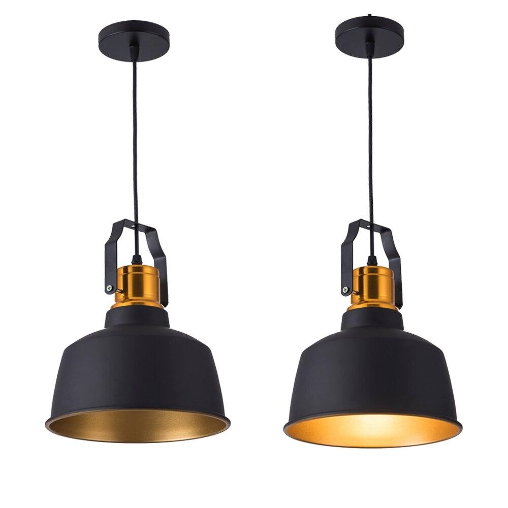 Nouveau Arrivé LED lampes suspendues Vintage Loft E27 Accrocher lampe et 12 w Pendentif Lampes salle à manger En Aluminium lampe En Bois Suspendus éclairages