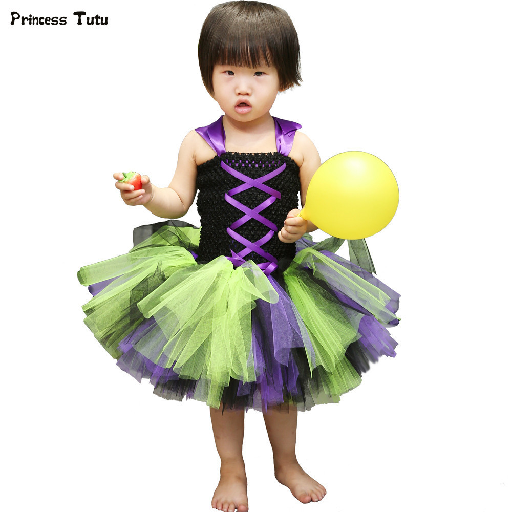 Girls Halloween Tutu Dress Fancy Baby Halloween Costume for Kids Tulle Carnival Birthday Party Princess Dress Children Clothes european style halloween show skeleton dress kids girls carnival fancy costume baby tutu party children cosplay vestido cloth