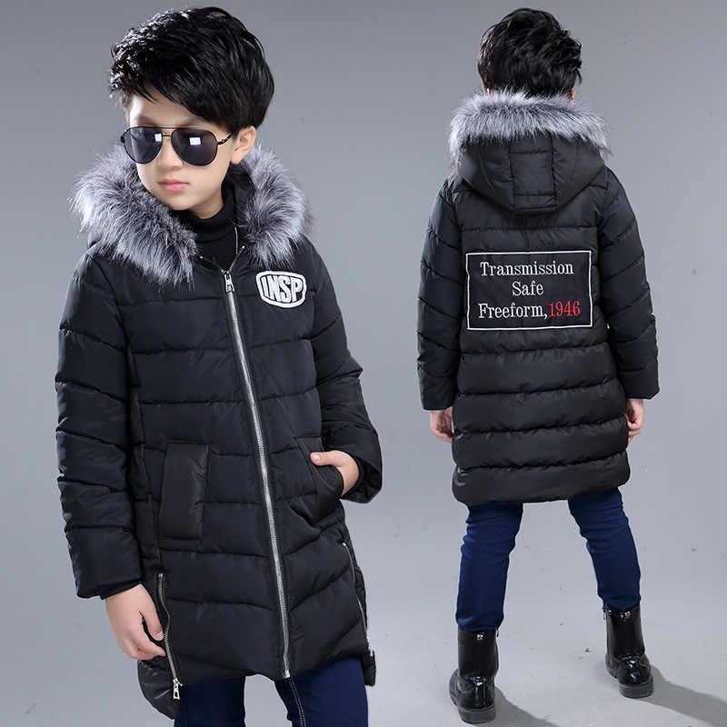 aebea9853a97 ... Songguiying A172 Зимние куртки для мальчиков детские парки на пуху От 5  до 15 лет Детские ...