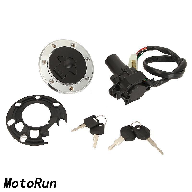 Fuel Gas Cap Ignition Switch Lock Key Set For Kawasaki Ninja ZX 7R 7RR 9R