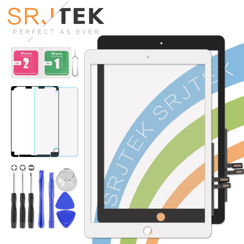 SRJTEK For iPad 9.7 Touch Screen iPad9.7 2018 Version A1893 Screen Digitizer For iPad 6 6th Gen A1954 Glass Panel Replacement 6 touch screen digitizer glass replacement for tomtom via 1605tm 1605m 620 tomtom start 60 60m