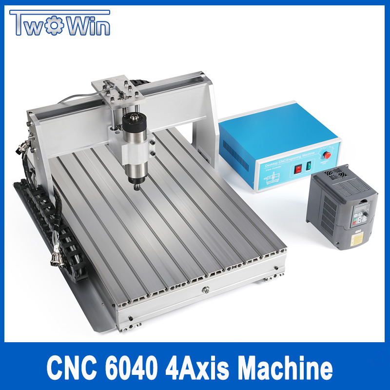 CNC 6040 4-axis Wood Router Cutting Milling Drilling Engraving Machine with USB Mach3 Control Mini CNC 6040 800W/1500W Supplier