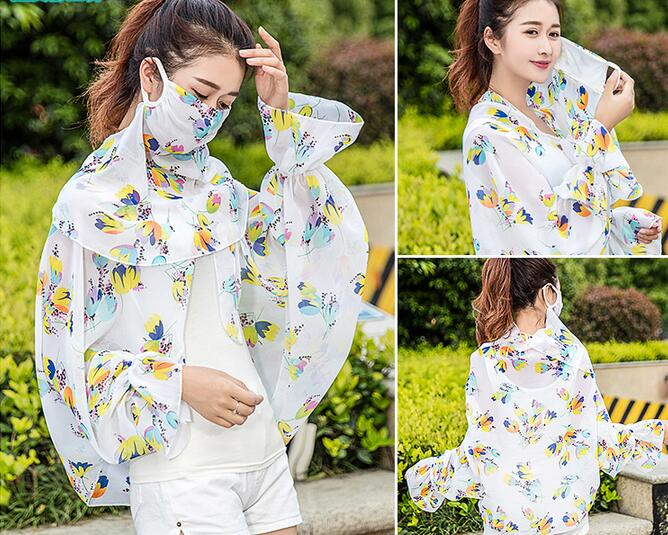 Anti-uv Sunscreen Thin Driving Mask Sleeve For Face Neck Arm Driver Pallium Large Mask Summer Scarves Riding Female Outdoor