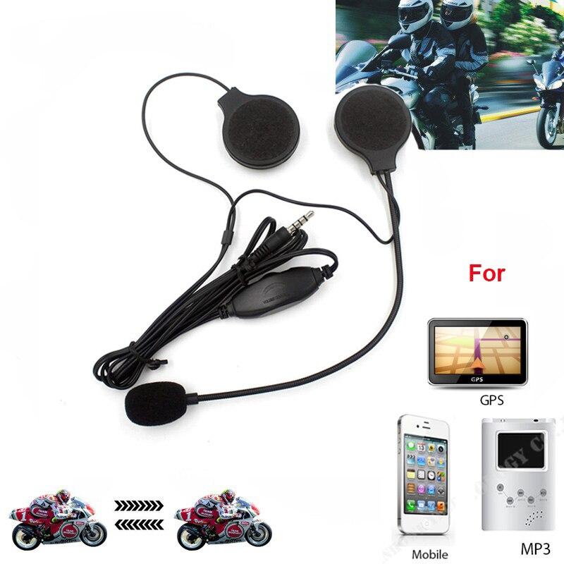 3.5mm Jack-plug Moto Motorbike Motorcycle Stereo Earphone Headset Sport Microphone For MP3 MP4 GPS Phone Music Device