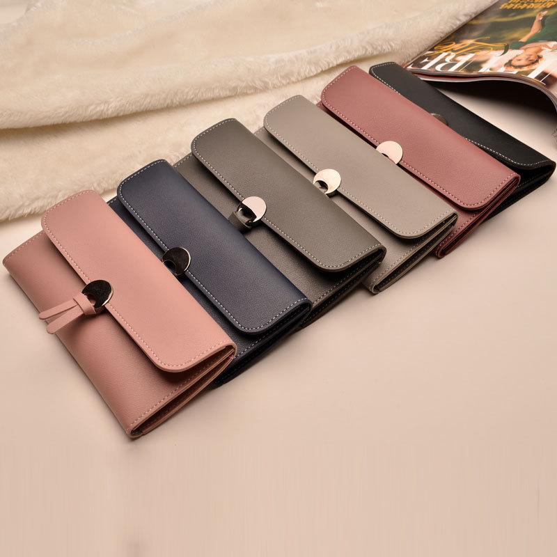 где купить Fashion Women Wallet Female PU Leather Wallets Purse Long Design Hasp Purse Credit Card Holder Woman Money Coin Brand Clutch Bag по лучшей цене