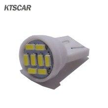 KTSCAR 500 sztuk promocja Led T10 8 smd 3014 8 diody Led 8SMD światła samochodowe 194 168 192 W5W Auto oświetlenie klinowe DC 12V światła obrysowe