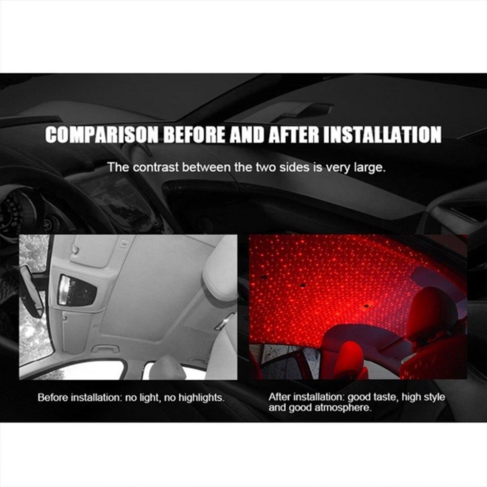Автомобильная проекционная лампа на крышу галактика Автомобильная атмосферная лампа звездный свет Домашний подлокотник коробка романтическая внутренняя атмосфера центральная консоль