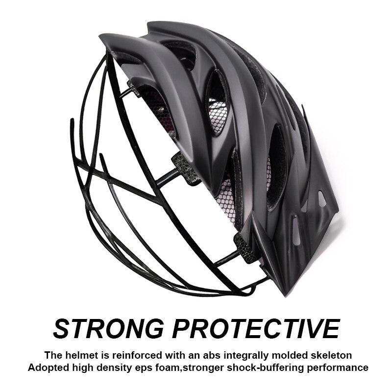 Bicycle Helmets Matte, Black, Men Women  Back Light MTB Integrally Molded 5