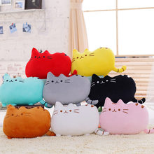 40*30cm Kawaii Cat Cushion Stuffed Plush Animal Doll Pillow Cute Toys Birthday Gifts For Children Kids Girl Brinquedos Big Size(China)