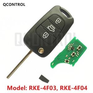 QCONTROL Car Remote Key Suit for KIA RKE-4F03 or RKE-4F04 CE 433-EU-TP 433MHz Vehicle Alarm