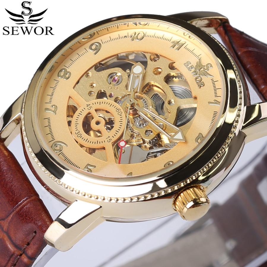 Topmerk luxe steampunk skeleton vintage horloge automatische - Herenhorloges