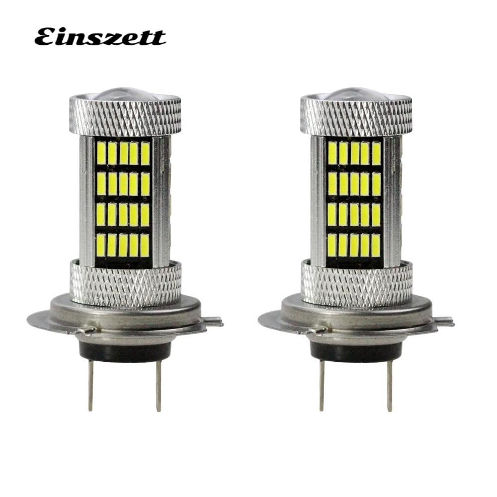 2pcs H7 LED Fog Light High Power Bright White DC12V 92SMD 4014 80W LED HeadLight Lamp