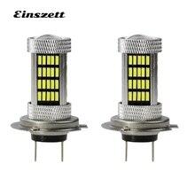 2 шт. H7 светодиодный противотуманный свет высокой Мощность яркий белый DC12V 92SMD 4014 80 Вт Светодиодный фар лампа DRL Вождения LED фары, аксессуары для автомобиля