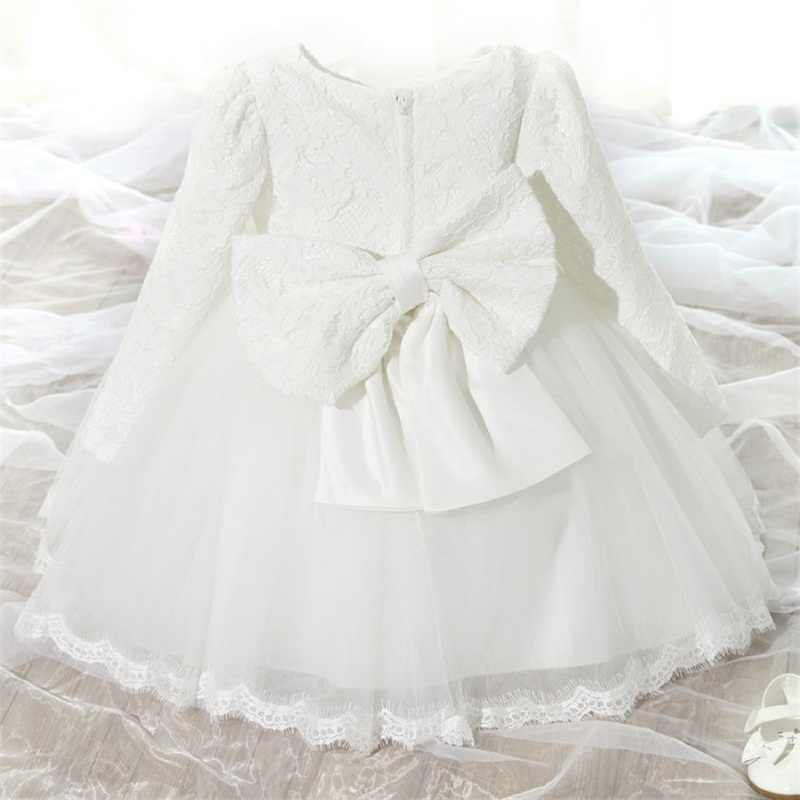 באיכות גבוהה תינוקת שמלת טבילה לתינוקות הילדה 1 שנה יום הולדת שמלה לתינוקת לchirstening שמלת עבור תינוקות