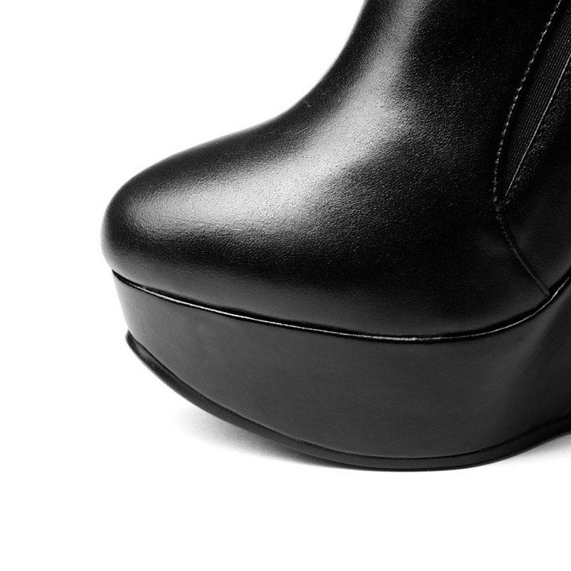 34 armygreen Noir Haute Rond forme Cuir Pompes Véritable Taille Plate Zipper Bout Femmes Wegdes Réel Carzicuzin Chaussures Vintage Femme 39 En wTgTA
