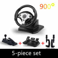 900 degree racing games steering wheel computer learning car simulation driving machine accelerator brake Gear lever full set