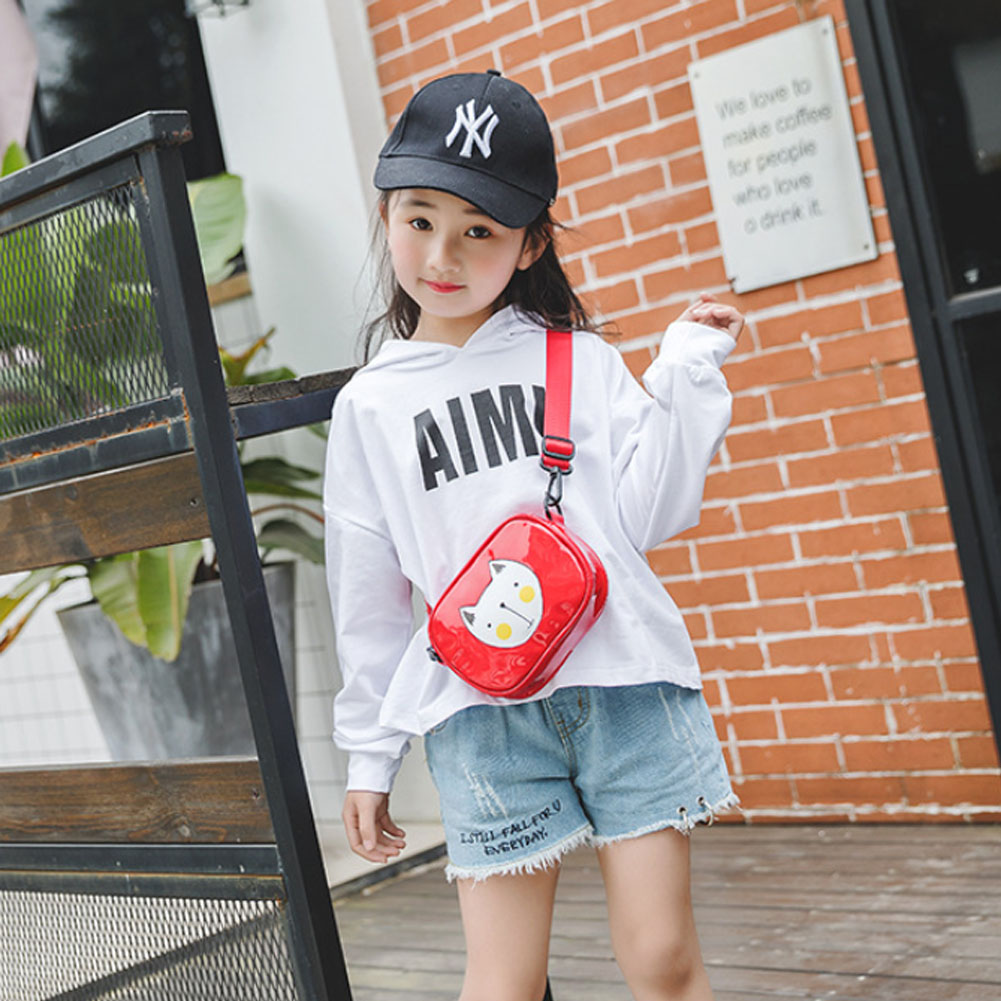 2019 Cute Children Girls Cartoon PU Leather Crossbody Bags Shoulder Bag Kids Baby Satchel Handbag Gift(China)