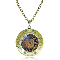 Compass locket necklace dome pendant compass locket jewelry antique locket necklace vintage Nautical compasses jewellery gifts