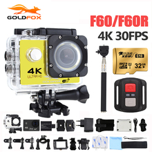 Goldfox H9 Стиль Спорт действий камеры Депортива Ultra HD 4 К Wi-Fi 1080 P 170D Водонепроницаемый велосипед шлем cam мини видеокамера