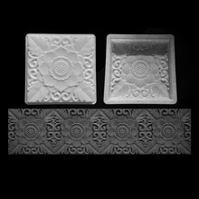 Antique brick flower carving courtyard garden decorating path paving concrete mold DIY Cement plastic mould