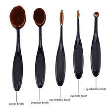 5pcs hot sale Shape Makeup Brush Set Pro Foundation Powder Shadow Soft makeup brushes eyeliner Makeup Brushes Kit Tools