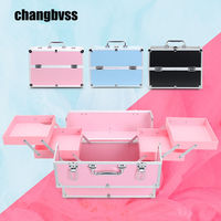 Multi Layer Storage Box Large Size Professional Women Cosmetic Bag Portable Makeup Organizer For Travel Caixa