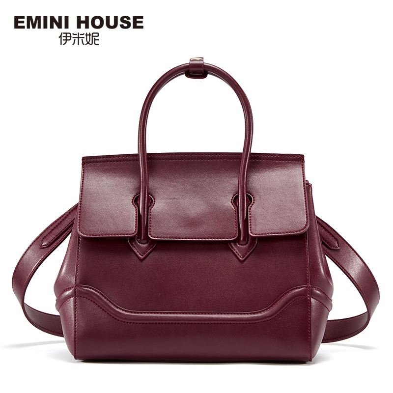 EMINI HOUSE Split Leather Shoulder Bag Vintage Birking High Quality Women Messenger Bags Luxury Handbags Designer
