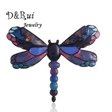 New 2019 Enamel Dragonfly Brooches Cute Brooch Pins for Women Trendy Chic Charming Decoration Accessories Girls Pin Jewelry Gift