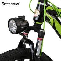 WEST BIKING Bicycle 3 LED Front Light MTB Bike Accessories Retro Headlight Vintage Flashlight Lamp Bisiklet