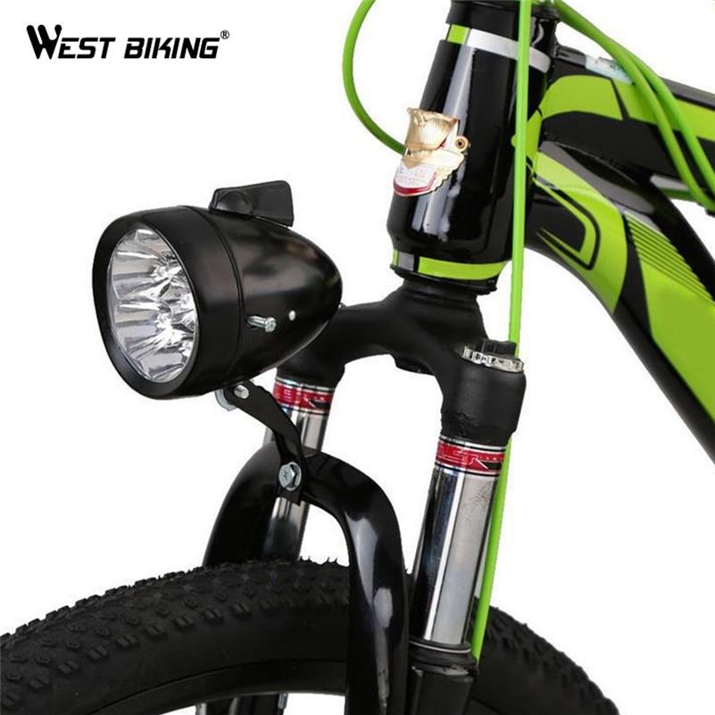 WEST BIKING Bicycle 3 LED Front <font><b>Light</b></font> MTB Bike Accessories Retro Headlight Vintage Flashlight Lamp Bisiklet Cycling Bike <font><b>Light</b></font>