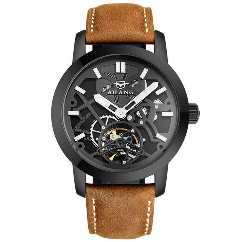 AILANG 6861 Switzerland watches men luxury brand automatic all black multi-function table army black brown relogio masculinoAILANG 6861 Switzerland watches men luxury brand automatic all black multi-function table army black brown relogio masculino