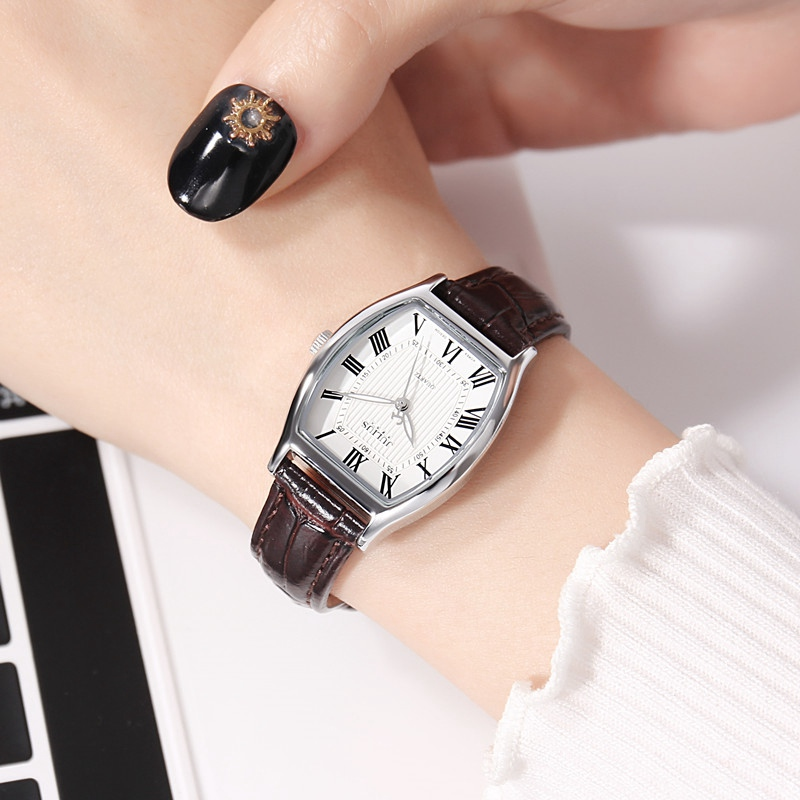 Beste cadeau damesmode fashion casual lederen band horloge Vintage - Dameshorloges - Foto 5