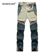 THE ARCTIC LIGHT Summer Hiking Camping Climbing Fishing Pants Outdoor Quick Dry Men Waterproof Trousers 2018 New Arrived