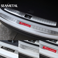 For Hyundai Tucson 3rd 2015 2016 2017 Car Trunk Rearguard Bumper Covers Internal+External Decoration Auto Accessories