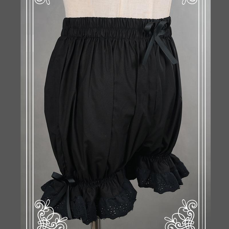 Dantel Kırpma ile Tatlı Pamuk Lolita Şort / - Bayan Giyimi - Fotoğraf 6