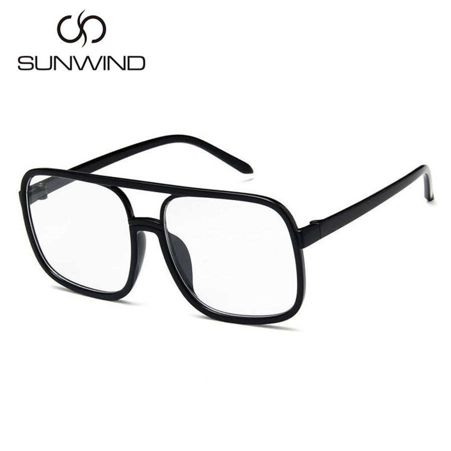 Mode Männer Frauen Sonnenbrille Square Frame Vintage Goggle Plain - Bekleidungszubehör - Foto 1