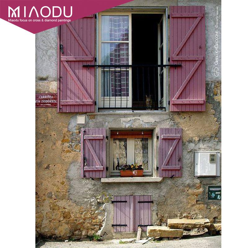 Miaodu Full Square Drill 5D DIY Diamond Painting Pink Mood Creative Retro Decoration Embroidery Cross Stitch Mosaic Home Decor