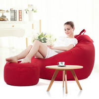 Lazy Sofa Bean Bag with Pedal Creative Single Sofa Bedroom Living Room Lazy Stool Tatami